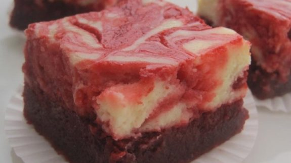 Red Velvet Cheesecake Swirl Brownies