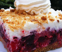 Raspberry Icebox Cake